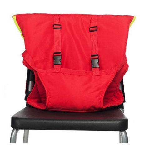 Image of Portable Baby Chair Safety Harness Red
