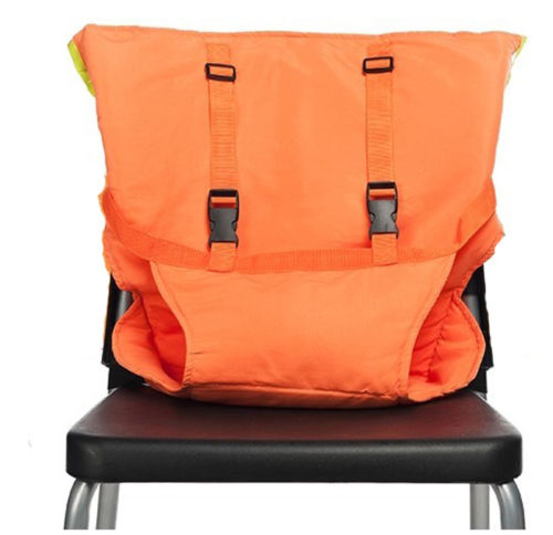 Portable Baby Chair Safety Harness Orange