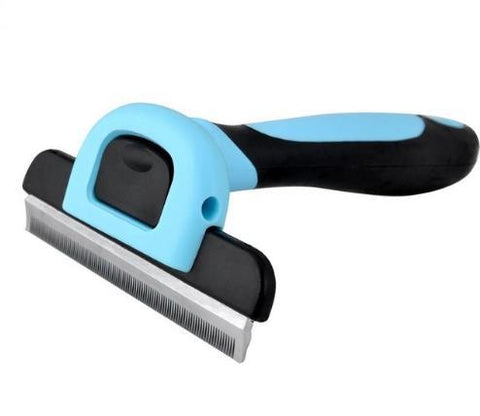 Image of Dog Shedding Brush Blue / M
