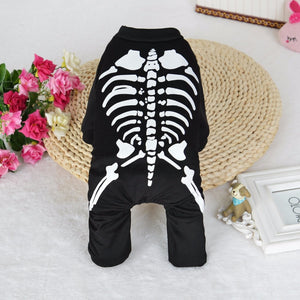 Halloween Skeleton Dog Costume