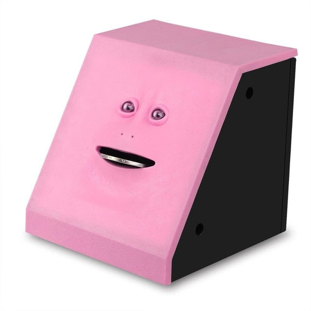 Coin Eating Face Bank pink