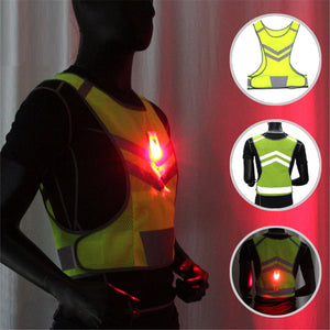 LED Running Vest L / LightGreen