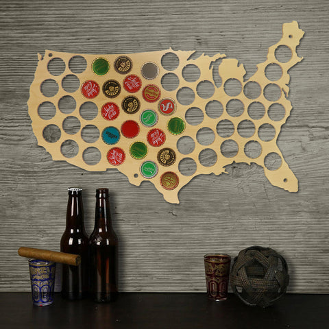 Image of Beer Bottle Cap Map
