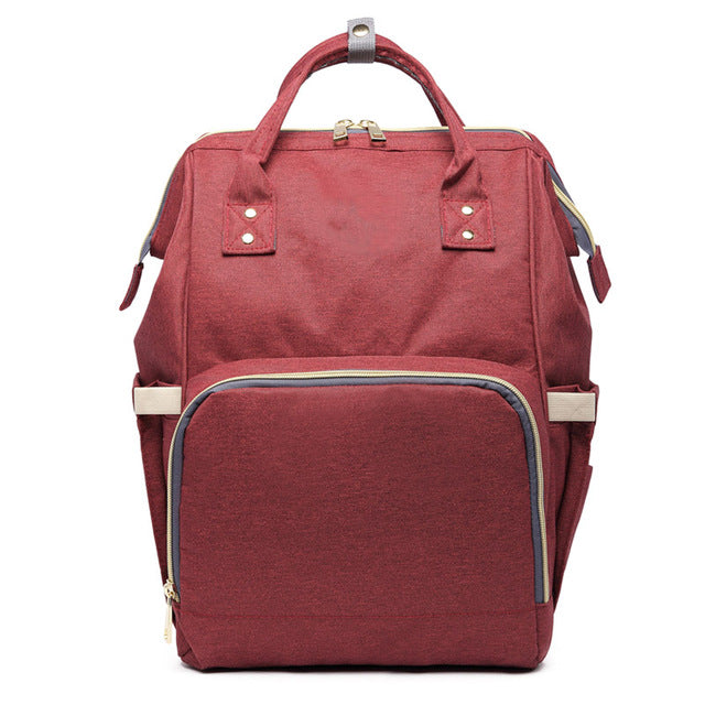 Backpack Diaper Bag wine-red