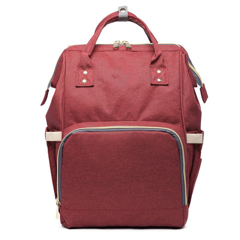 Image of Backpack Diaper Bag wine-red