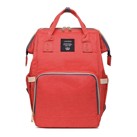 Image of Backpack Diaper Bag Red