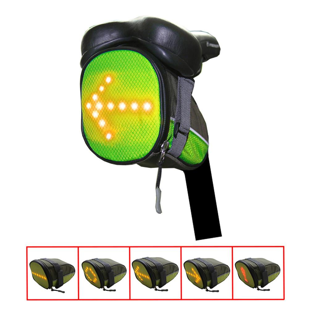 Bicycle Turn Signal Bag Green
