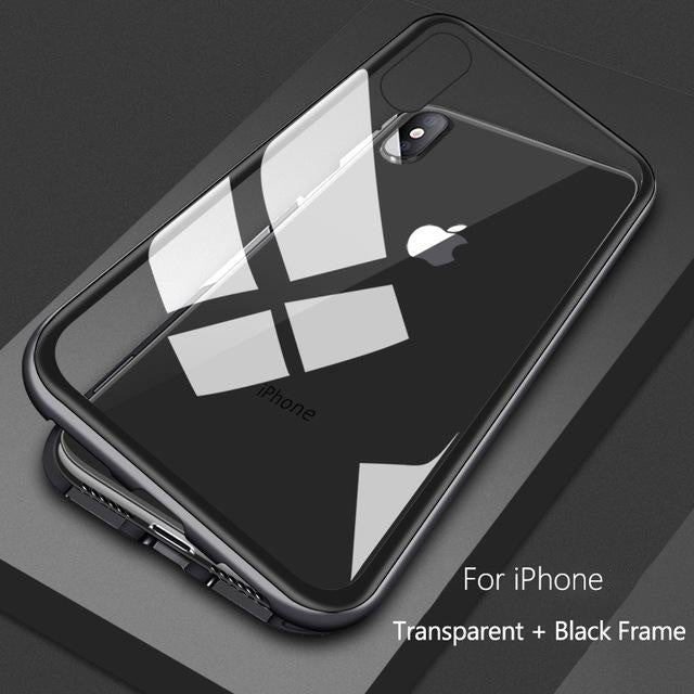 Magnetic iPhone Case Transparent Black / For iPhone 6 6s