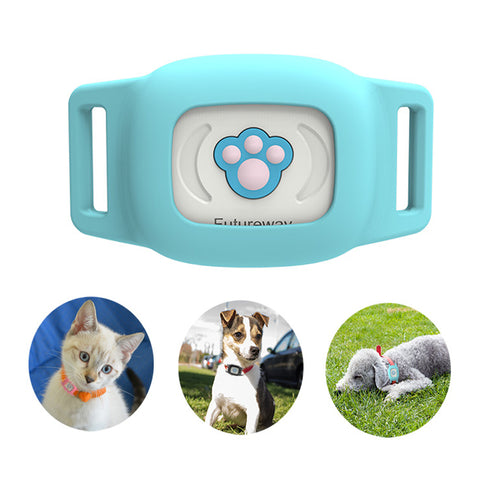 Image of Smart GPS Cat Collar Sky Blue