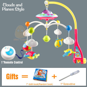 Musical Mobile Crib Toy with Remote Plane With Remote