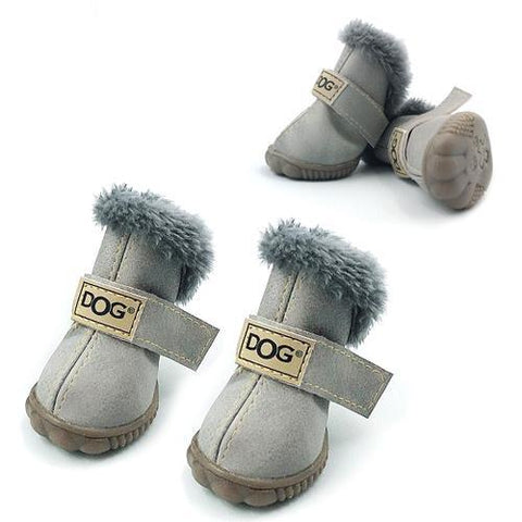 Dog Shoes for Winter Gray / S