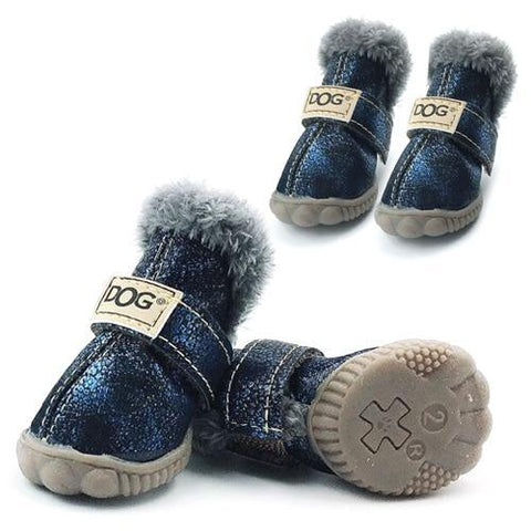 Dog Shoes for Winter Navy / S