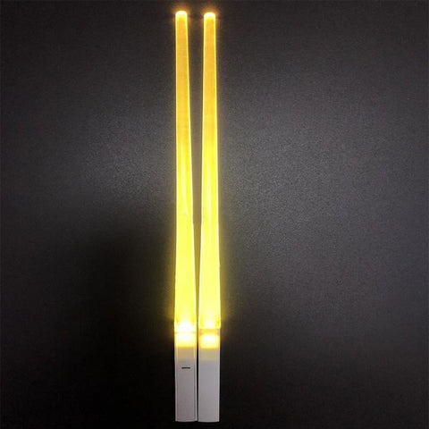 Glowing Chopstick 2pcs Yellow