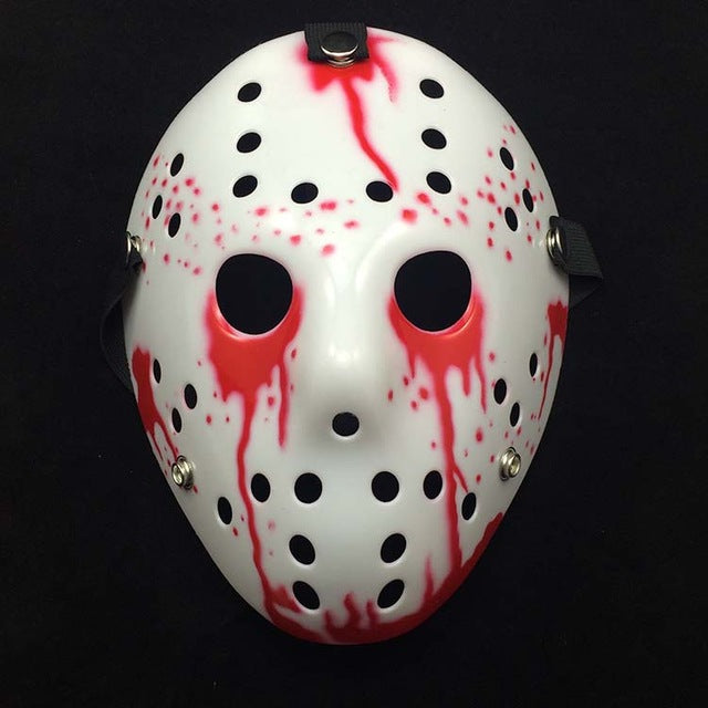 Jason Voorhees Halloween Mask Blood red