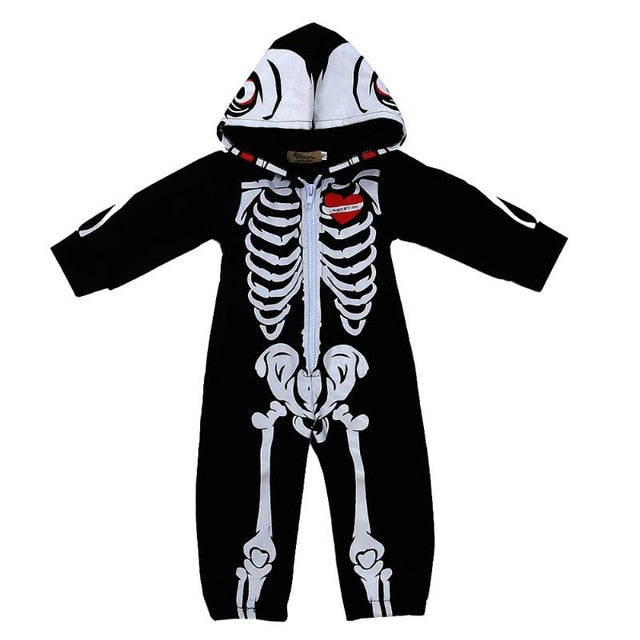 cute skeleton baby halloween costume 9m tap to expand