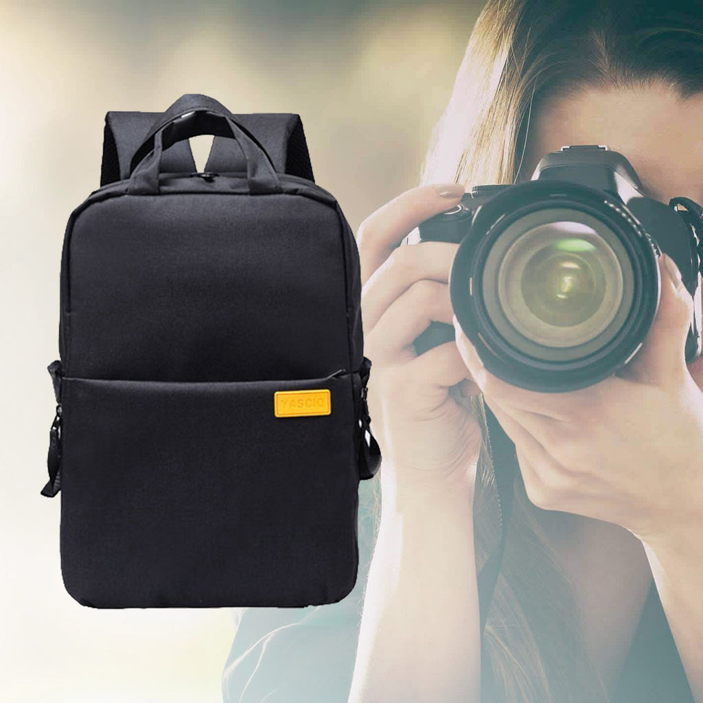 Waterproof DSLR Camera Backpack Black