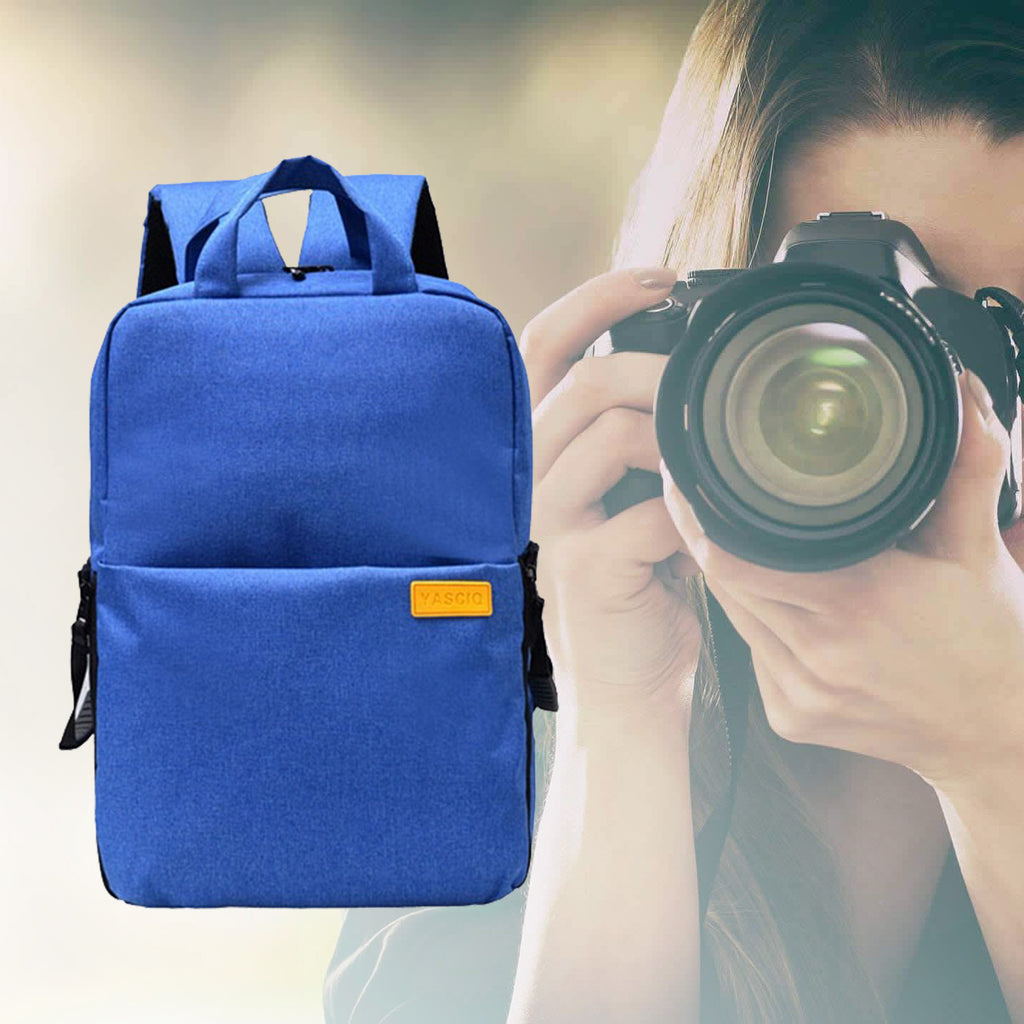 Waterproof DSLR Camera Backpack Blue