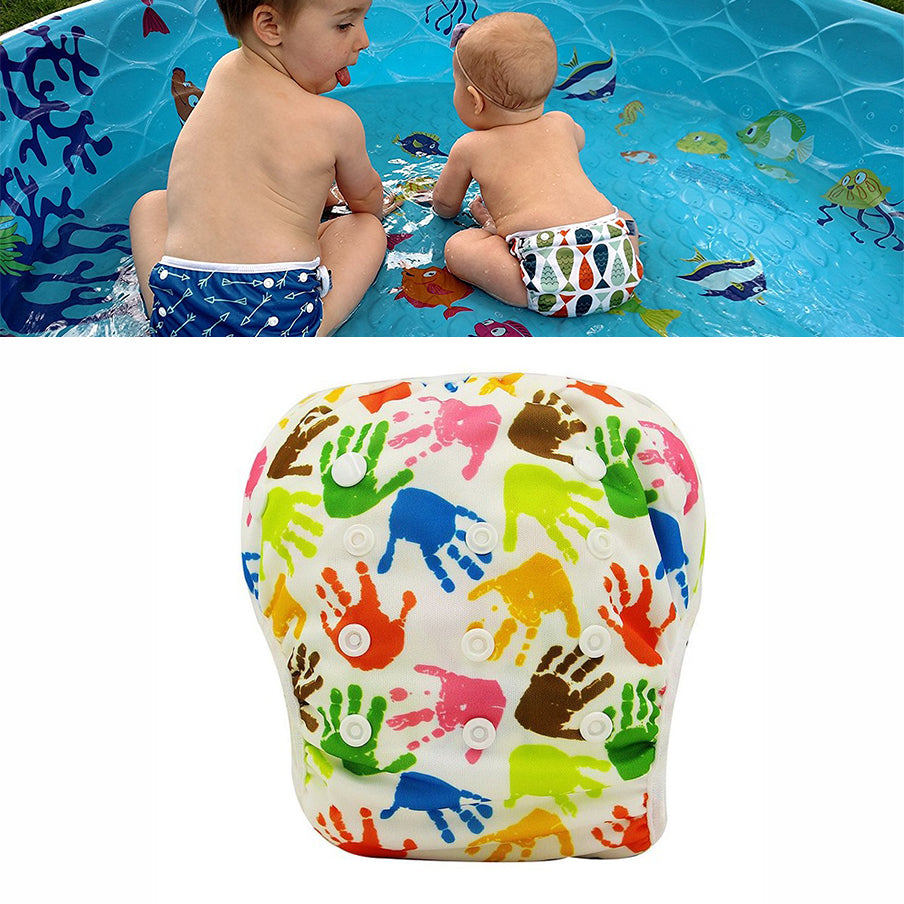 Waterproof Swimming Baby Diaper diaper-4 / One Size Adjustable