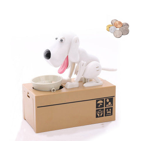 Image of Dog Coin Bank white