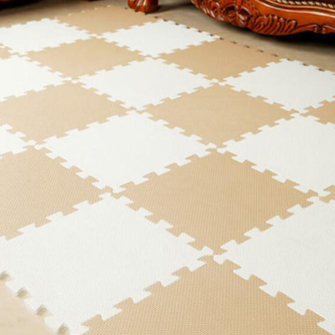 Interlocking Foam Mat Beige-White / 30x30x1cm 12pcs