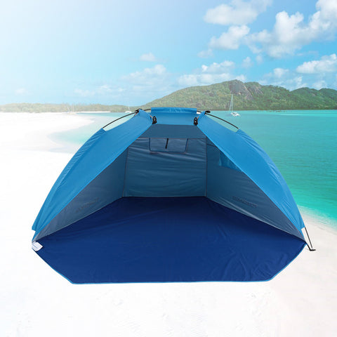 Image of Portable Beach Tent Blue