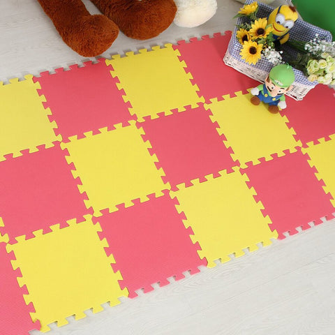 Interlocking Foam Mat Yellow-Red / 30x30x1cm 12pcs