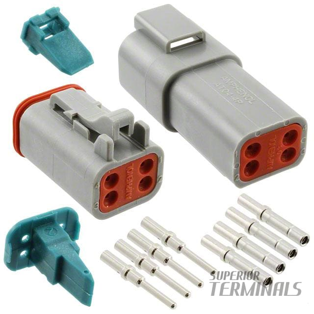 AT SERIES PLUG & SOCKET KIT - 4 WAY - Amphenol