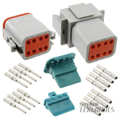 AT SERIES PLUG & SOCKET KIT - 8 WAY - Amphenol