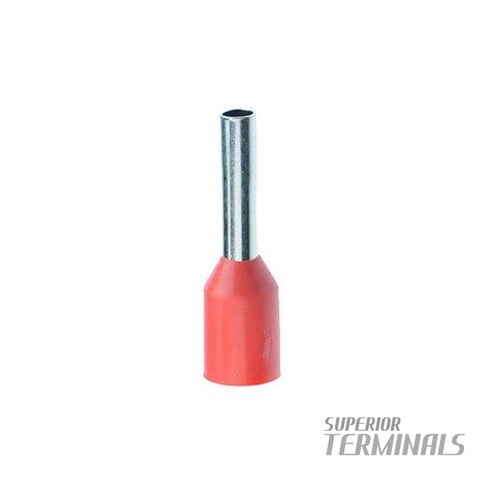 Bootlace Ferrule RED 1.0MM2 500 Pack