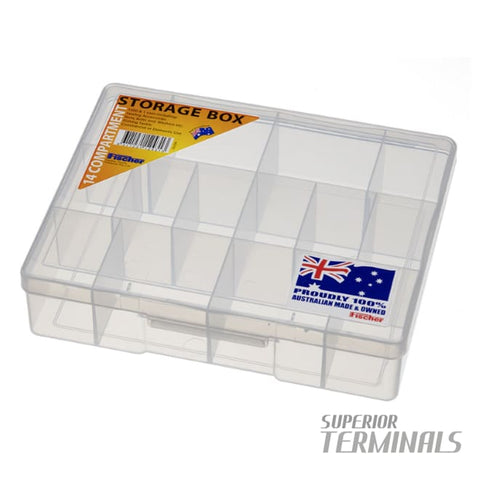Fischer 14 Compartment Storage case - STORAGE