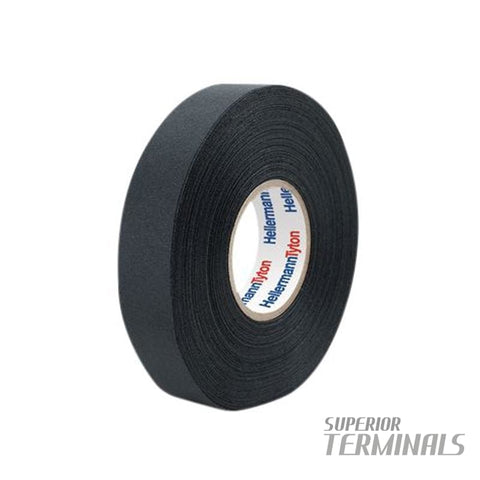 Harness Tape Poly Fabric 0.25mm x 19mm x 25M (Black) -40C to 150C - Tape