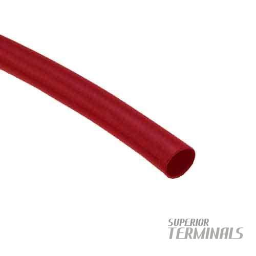 HST - Flex Dual-Wall - 4/Pkg 1/8 ID Red 48 L - Flexible Adhesive Heat Shrink