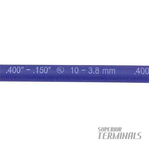 HST - Flex Dual-Wall - 9.52mm ID (3/8) Blue 305mm L (12) - Flexible Adhesive Heat Shrink