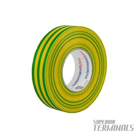 Insulation Tape Green / Yellow 0.15mm x 19mm x 20M -10C to 90C - Tape