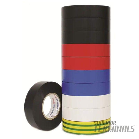 Insulation Tape Rainbow Pack of 10 0.15mm x 19mm x 20M -10C to 90C - Tape