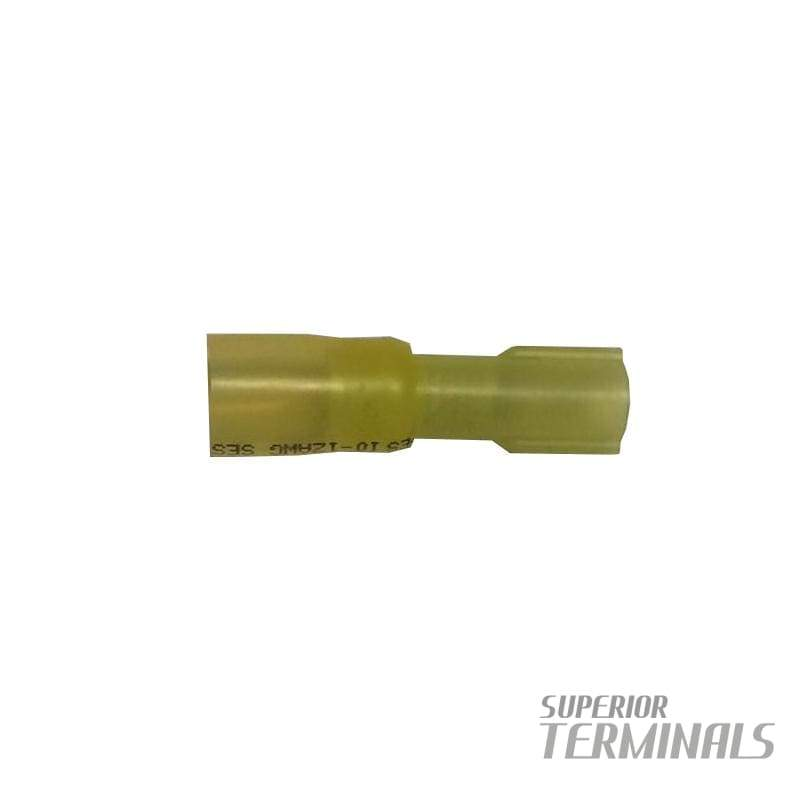 Krimpa-Seal Fully Ins Cplr 12-10 AWG Female .250 (ETC) Yellow - Krimpa-Seal