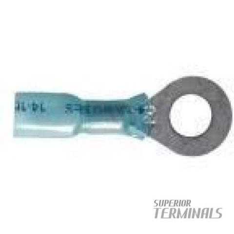 Krimpa-Seal Ring 16-14 AWG Ring 1/4 Stud (Blue) - Krimpa-Seal