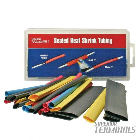 HST - Tinted Semi-Rigid MW - 8/Pkg .245 ID Red 6 L - Tinted Adhesive Heat Shrink