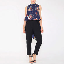 Casual Loose Floral Printed Tail Long Blouse