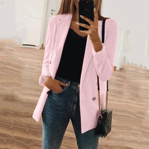 Fashion Solid Color Long Sleeve Blazers