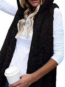 Sleeveless Hoodies Cashmere Vest
