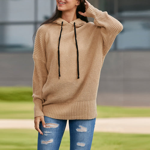 Hooded Loose Sweater