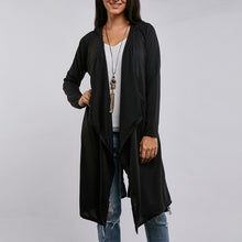 Irregular Solid Color Cardigan