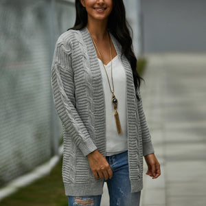 Plain Long Sweater Cardigan