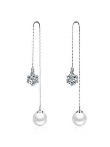 Pearl Pendant Ear Line Earrings