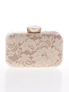 Decorative Lace Evening Clutch Bag