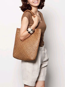 Boho Style Straw Large Capacity Beach Bag