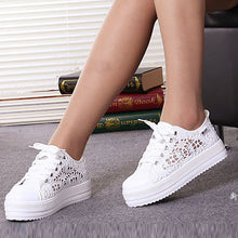 Casual Hollow Pure Color Canvas Shoes