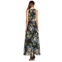 Bohemia Printing Flower Chiffon Vacation Dress