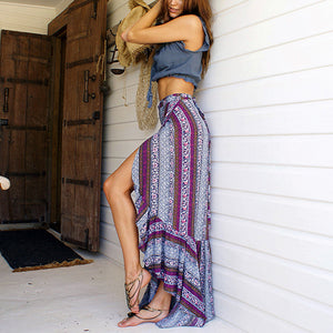 Bohemai Printed Vacation Long Skirt